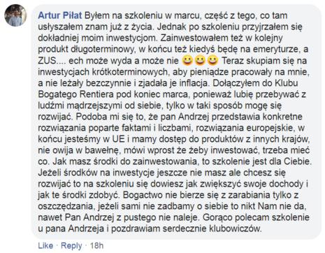 opinia o szkolenia Andrzeja Spuły